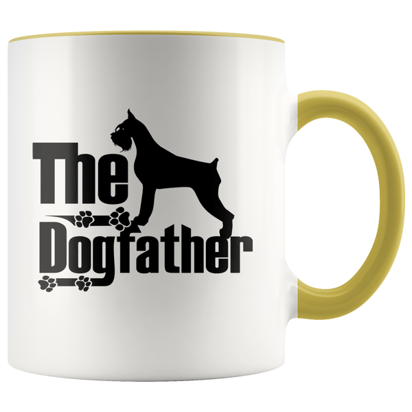 Schnauzer Lover Gifts The Dogfather 11oz Assorted Color Coffee Mug