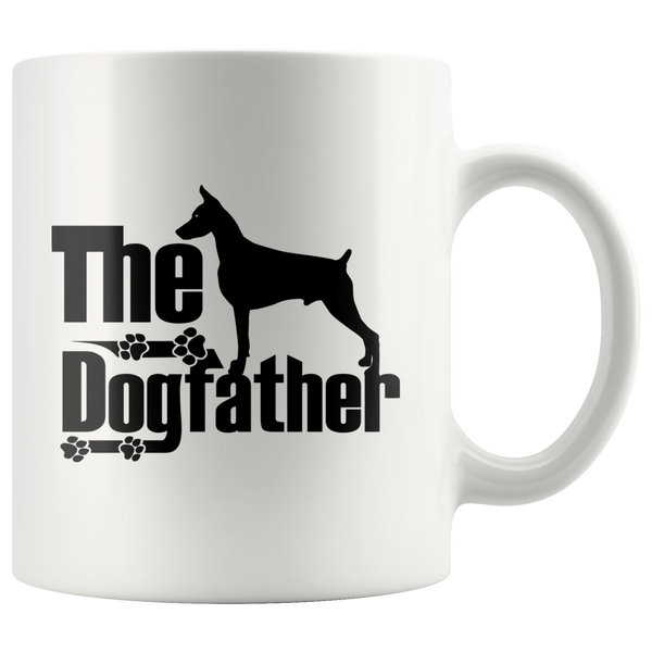 Doberman Lover Gifts The Dogfather 11oz White Coffee Mug