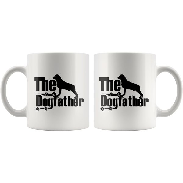 Rottweiler Lover Gifts The Dogfather 11oz White Coffee Mug