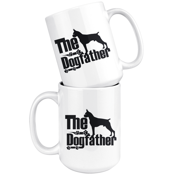 Boxer Lover Gifts The Dogfather 15oz White Coffee Mug