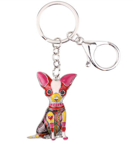 Chihuahua Jewelry - Chihuahua KeyChain- Chihuahua Art - Chihuahua Watercolor - Chihuahua Figurine- Mother's Day FREE Shipping
