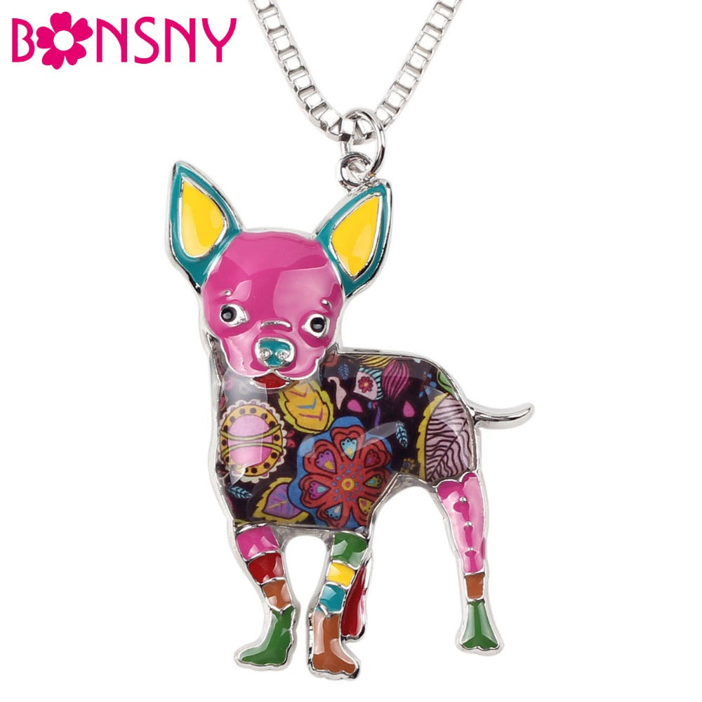 Chihuahuas Dog Choker Necklace Chain Collar Pendant