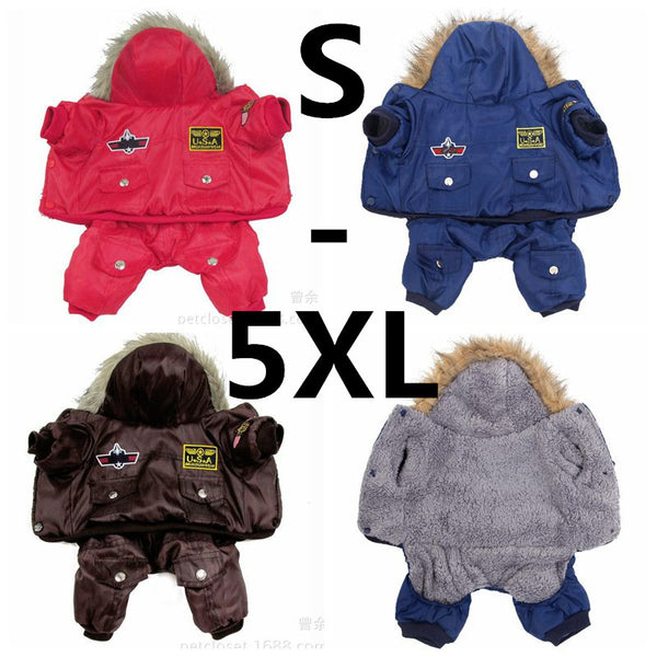 Warm Thick Clothes Padded Hoodie Jumpsuit Hot New Arrival  Free Shipping