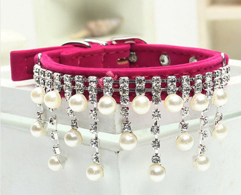 Crystal & Pearl Necklace/Collar