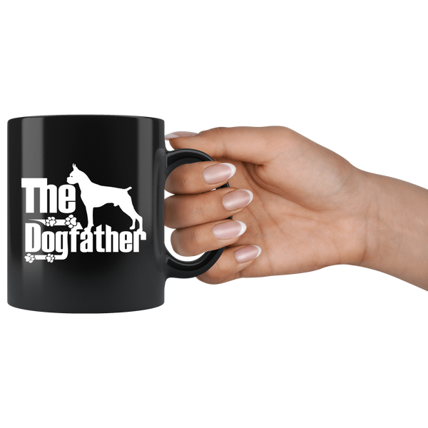 Boxer Lover Gifts The Dogfather 11oz Black Coffee Mug