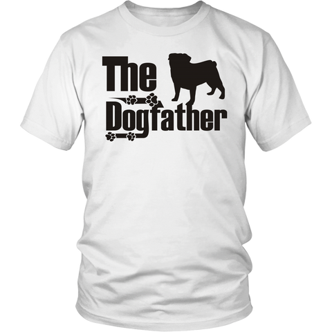 Pug Lover - The Dogfather - T Shirt - Pug Fans - FREE Shipping