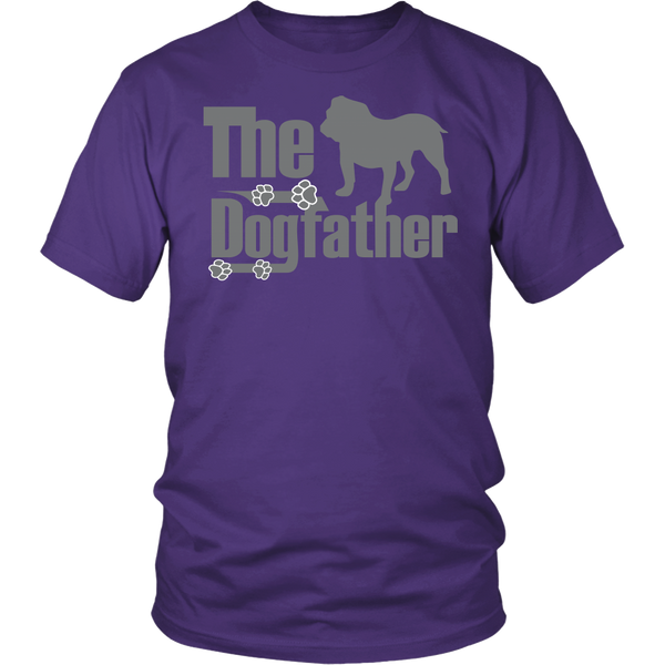 The Dogfather - Bulldog T-Shirt in Silver Writing