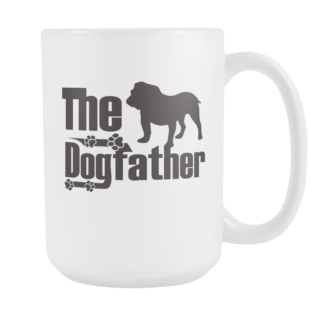 The Dogfather - Bulldog 15oz White Mug