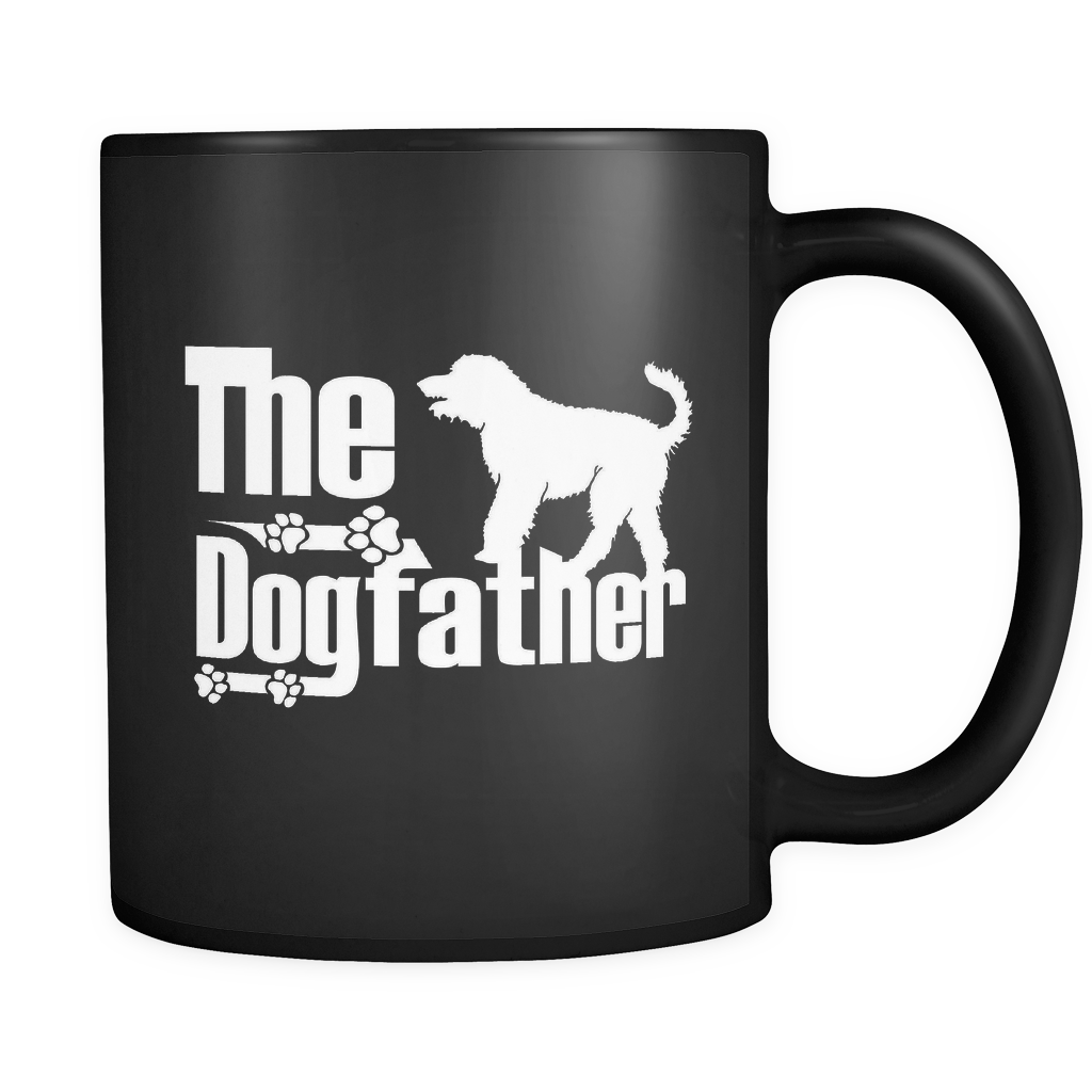 Labradoodle Lover Gifts The Dogfather 11oz Black Coffee Mug -Labradoodle Dog Pet Owner Rescue Gift