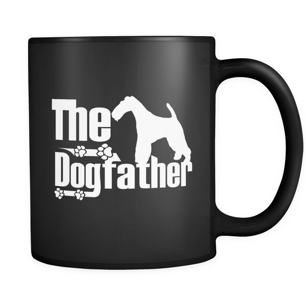 Wire Hair Fox Terrier Lover Gifts The Dogfather 11oz Black Coffee Mug - Wire Hair Fox Terrier Pet Owner Rescue Gift