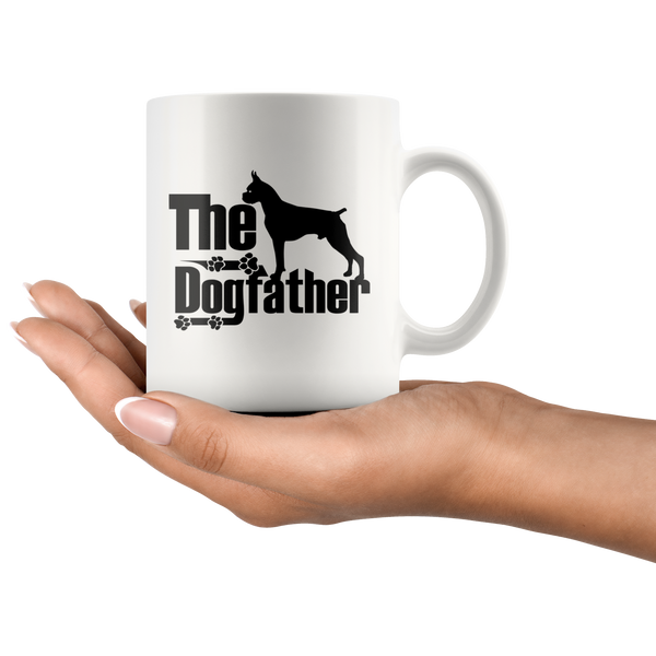 Boxer Lover Gifts The Dogfather 11oz White Coffee Mug