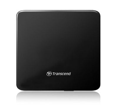 Transcend 8K Extra Slim Portable DVD Writer Optical Drive (TS8XDVDS-K)