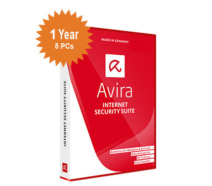 Avira Internet Security Suite - 1-Year 5-PCs