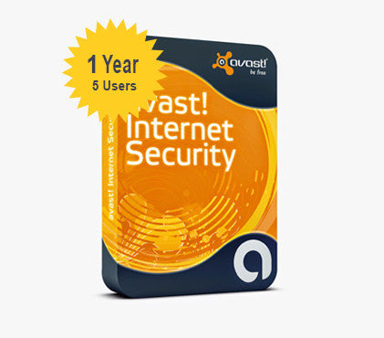 avast! Internet Security 1-Year 5-Users