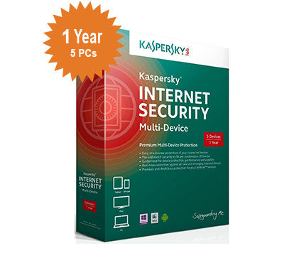 Kaspersky Internet Security Multi-Device 2016 - 1-Year / 5-Device - UK/EUROPE