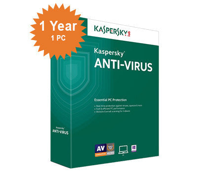 Kaspersky Anti-Virus 2016 - 1-Year / 1-PC - North America