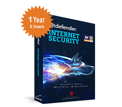 Bitdefender Internet Security 2016 - 1-Year 5-Users