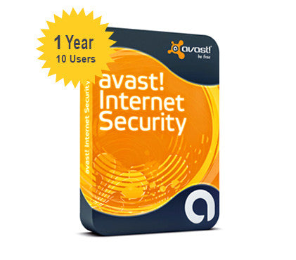 avast! Internet Security 1-Year 10-Users