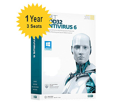 ESET NOD32 Antivirus Home - 1-Year 3-Seats