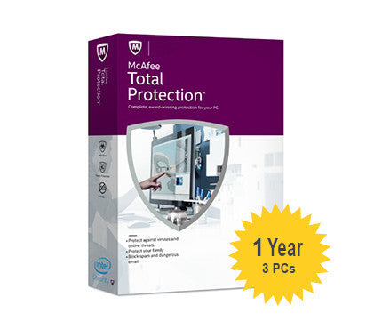 McAfee Total Protection - 1-Year 3-PCs - Global
