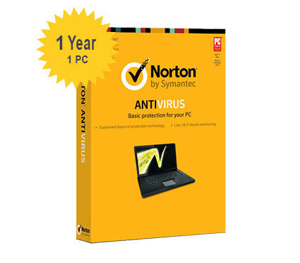 Norton Anti-Virus - 1-Year / 1-PC - UK/EU/AU