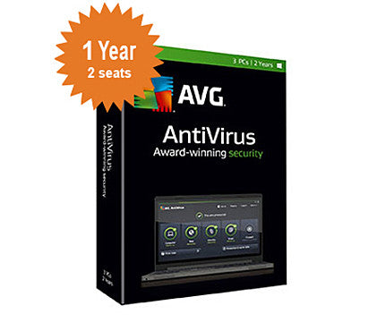 AVG AntiVirus 2016 - 1-Year 2-Seats