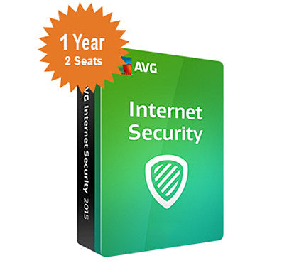 AVG Internet Security 2016 - 1-Year 2-Seats