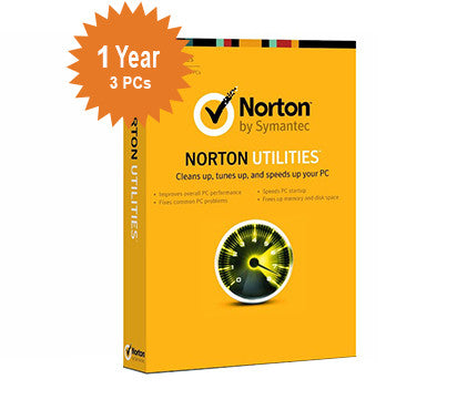 Norton Utilities - 1-Year / 3-PC - North America
