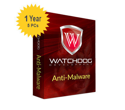 Watchdog Anti-Malware - 1-Year 5-PCs