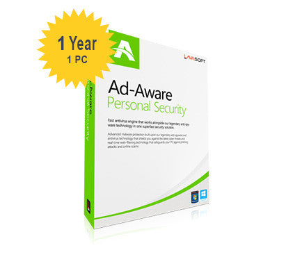 Lavasoft Ad-Aware Personal Security - 1-Year 1-PC