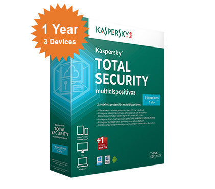 Kaspersky Total Security 2016 - 1-Year 3-Devices - North America