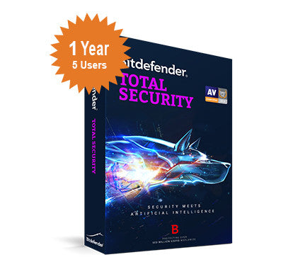 Bitdefender Total Security 2016 - 1-Year 5-Users