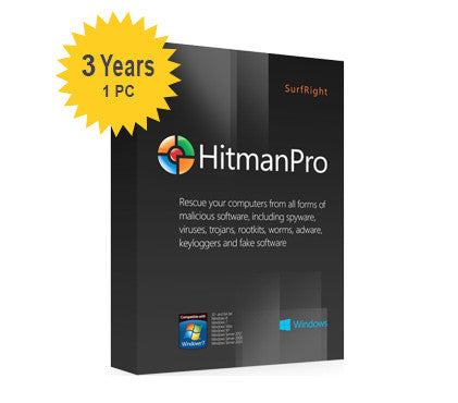 SurfRight HitmanPro 2015 (3.7) - 3-Year 1-PC