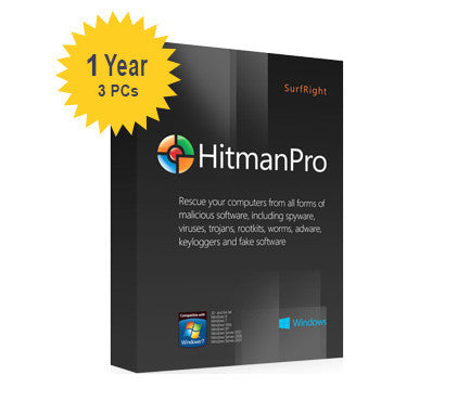 SurfRight HitmanPro 2015 (3.7) - 1-Year 3-PC