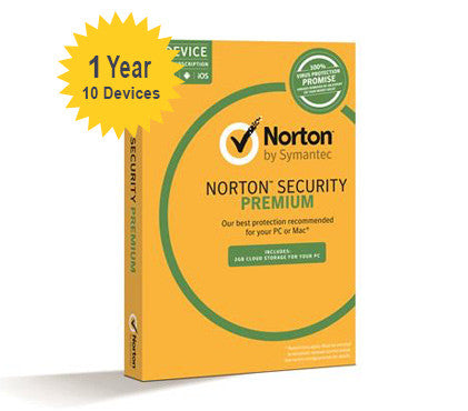 Norton Security Premium with Backup - 1-Year 10-Device - Global