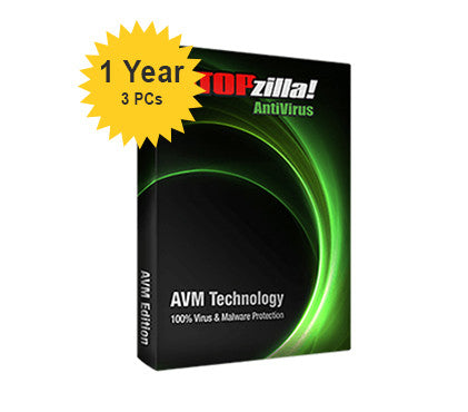 iS3 STOPzilla AntiVirus - 1-Year 3-PCs