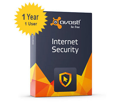 avast! Internet Security 1-Year 1-User