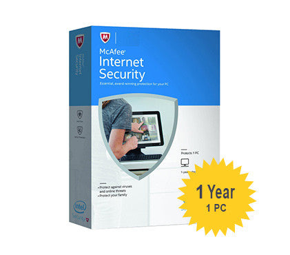 McAfee Internet Security - 1-Year 1-PC - Global