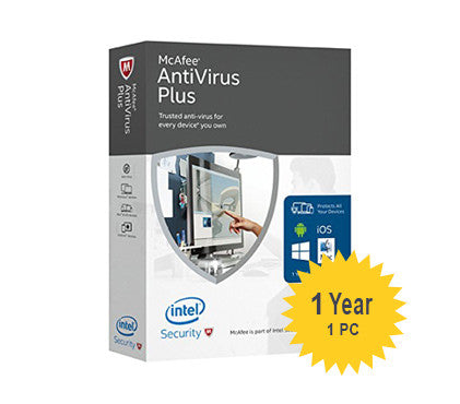McAfee AntiVirus Plus - 1-Year 1-PC - Global