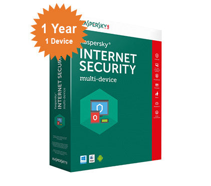 Kaspersky Internet Security  2016 - 1-Year 1-Device
