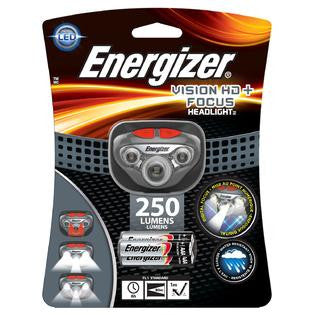 Energizer Vision HD+ Focus LED Headlight - AAA 250L 80M BEAM 6HR NV DIG BEAM