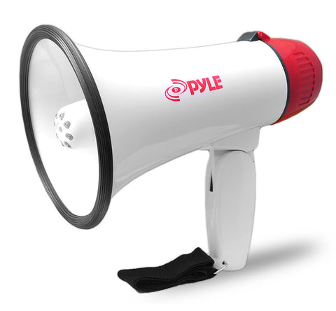 PyleHome Professional Megaphone - Bullhorn with Siren & LED Lights