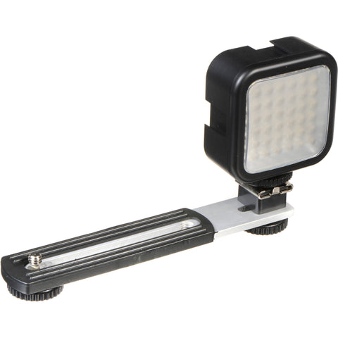 Sima SL-20LX Ultra Bright Video Light - Guide Number 4.6 m/25 ft - Proprietary Battery Size - Shoe Mount - Silver LIGHT