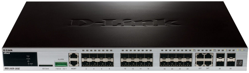 D-Link xStack DGS-3420-28PC Layer 3 Switch - 20 x Gigabit Ethernet Network
