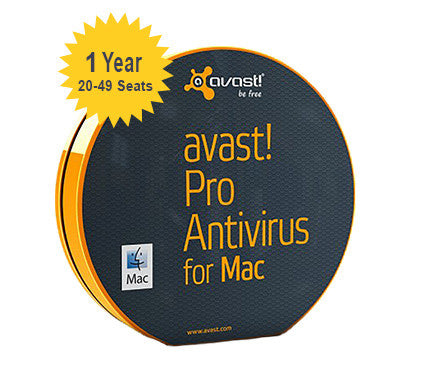 Small Business Protection - avast! Pro Antivirus for Mac - 1 - Year 20 - 49 Seats