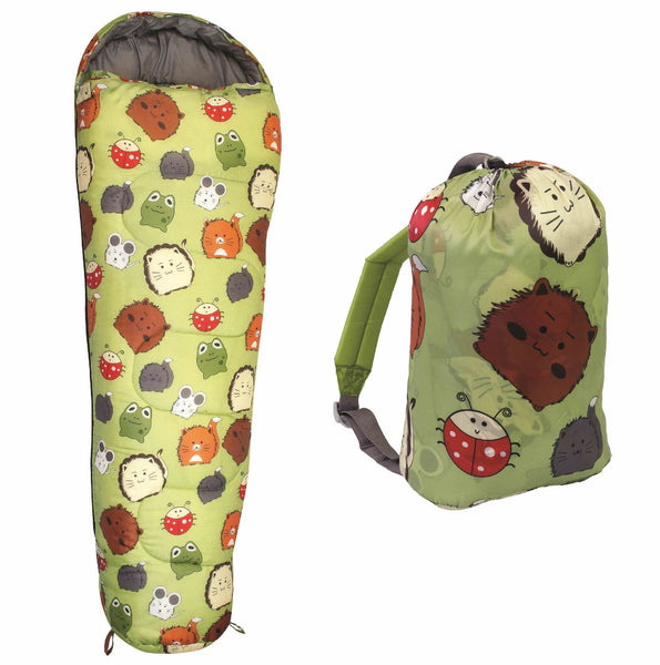 Furry Friends Kids Sleeping Bag - wildchildoutdoor - 1