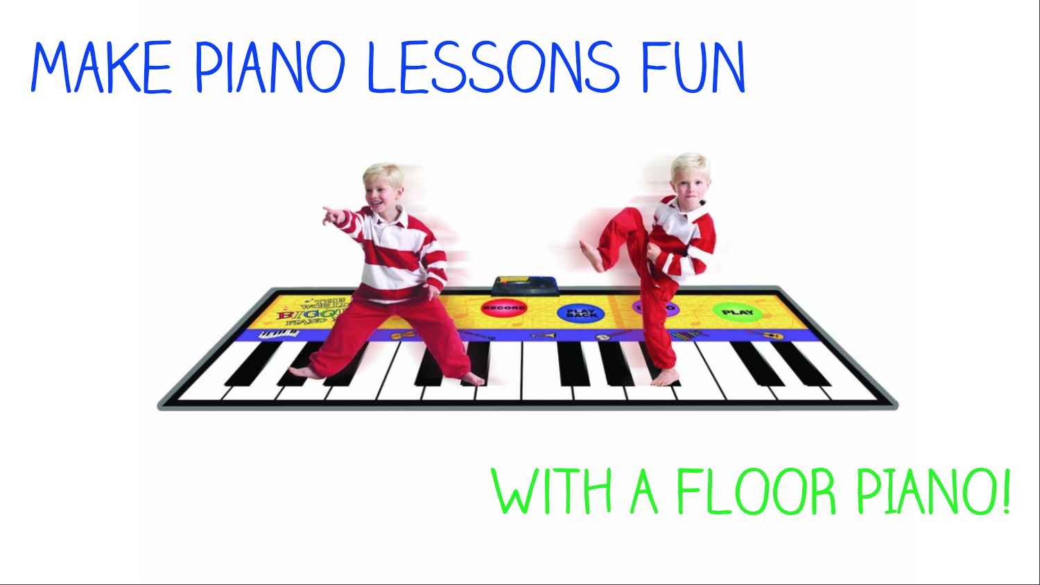Make Piano Lessons Fun With a Floor Piano