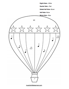 Music Rhythm Coloring Sheets