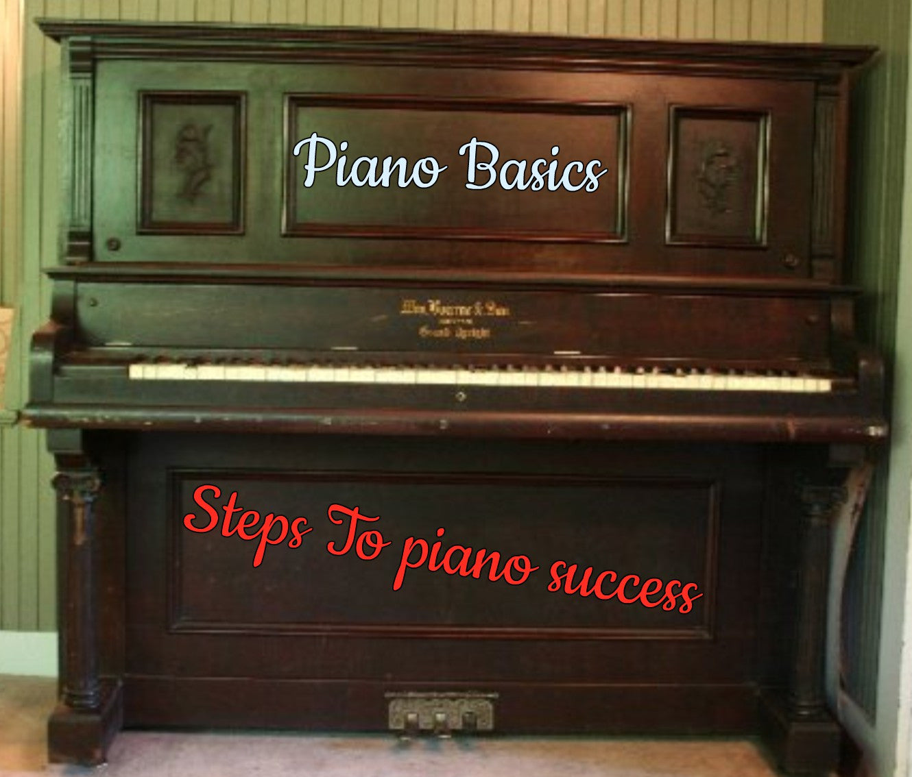 Piano Basics Steps to Piano Success!