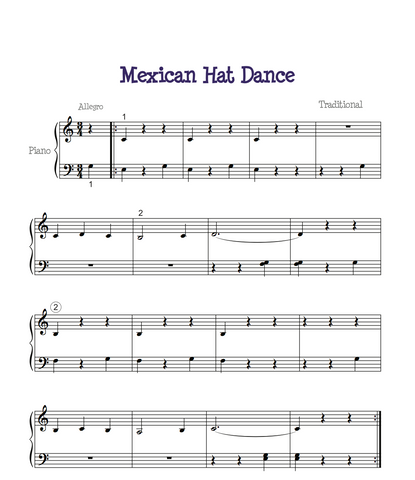 Mexican Hat Dance Free Sheet Music
